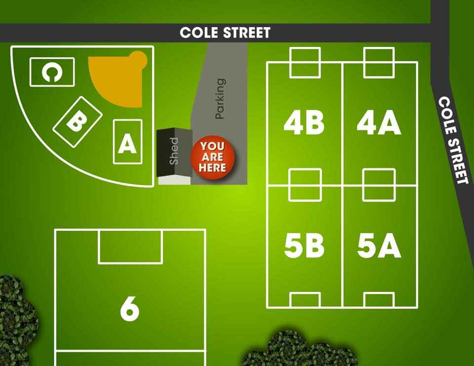 Cole Street Rec Soccer Field Map