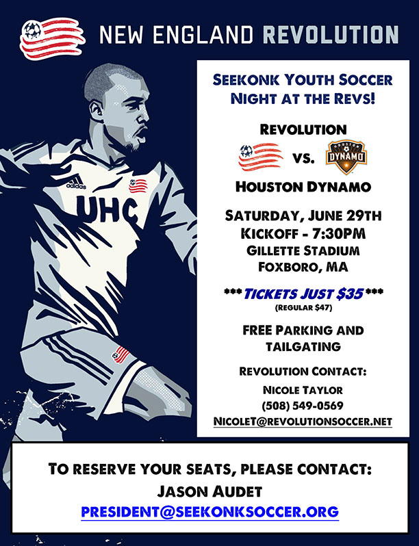 Seekonk Soccer Revolution Night - June 29th
